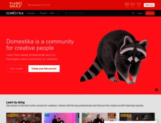 domestika.org screenshot