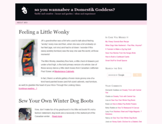 domestikgoddess.com screenshot