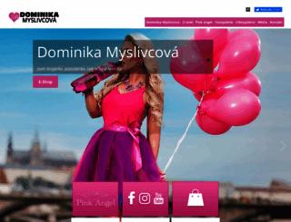 dominikamyslivcova.cz screenshot