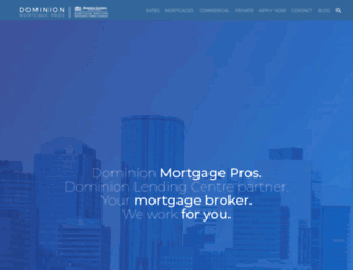 dominionmortgagepros.ca screenshot