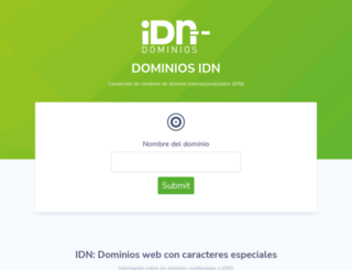 dominiosidn.com screenshot
