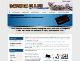 dominorules.com screenshot