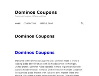 dominoscoupons.co.in screenshot