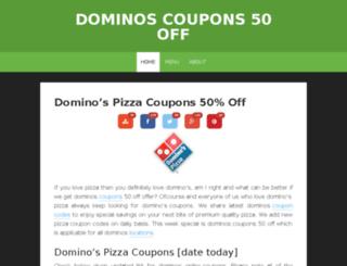 dominoscoupons50off.com screenshot