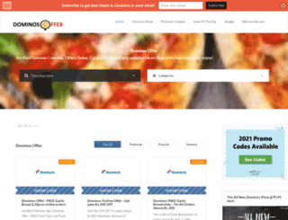 dominosoffer.co.in screenshot
