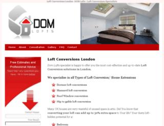 domlofts.co.uk screenshot