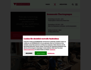 domradio.de screenshot