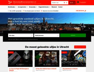 domstadevenementen.nl screenshot