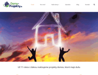 domy-projekty.sk screenshot