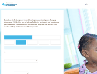 donate.chop.edu screenshot