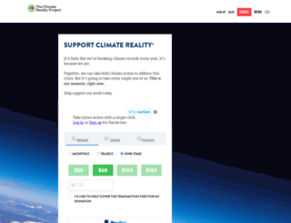 donate.climaterealityproject.org screenshot