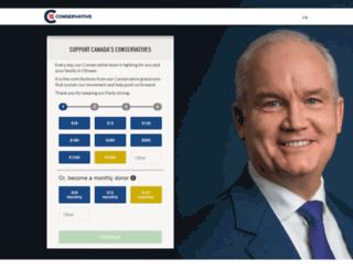 donate.conservative.ca screenshot