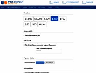donate.pinkyswear.org screenshot