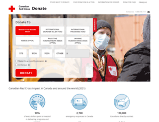 donate.redcross.ca screenshot
