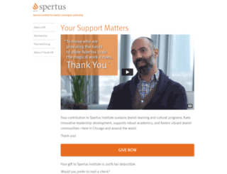 donate.spertus.edu screenshot