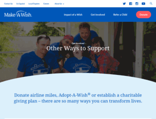 donate.wish.org screenshot