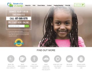 donateacar2charity.com screenshot