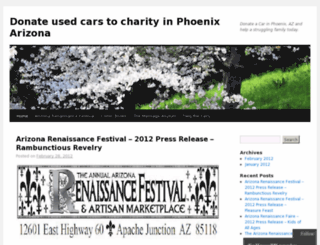 donatecarscharityphoenixarizona.wordpress.com screenshot