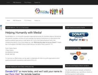 donatemedia.org screenshot