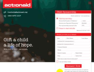 donatenow.actionaidindia.org screenshot