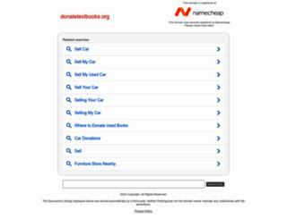 donatetextbooks.org screenshot