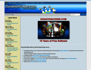 donationcoder.com screenshot