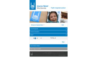 donations.islamic-relief.com screenshot