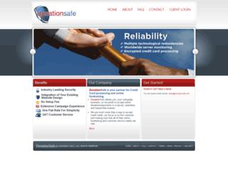 donationsafe.com screenshot