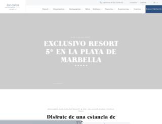 doncarlosresort.expohotels.com screenshot