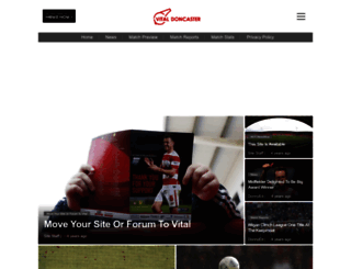 doncaster.vitalfootball.co.uk screenshot