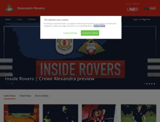 doncasterroversfc.co.uk screenshot