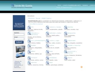 dondemequeda.com screenshot