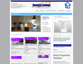 donegallettings.com screenshot