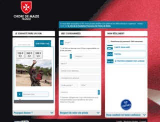 donenligne.ordredemaltefrance.org screenshot