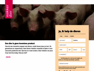 doneren.wakkerdier.nl screenshot