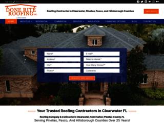 doneriteroofinginc.com screenshot