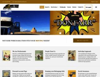 donfarrmoving.com screenshot