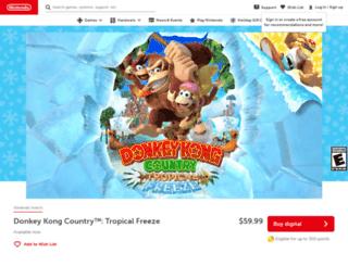 donkeykong.nintendo.com screenshot