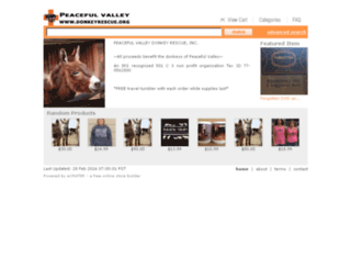 donkeyrescue.ecrater.com screenshot