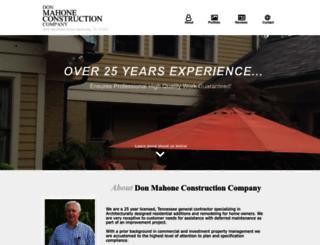 donmahoneconstruction.com screenshot