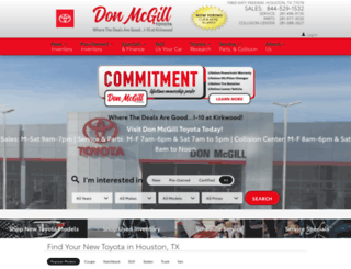 donmcgilltoyota.com screenshot