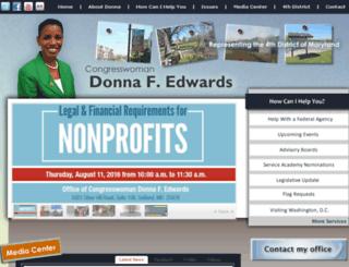 donnaedwards.house.gov screenshot