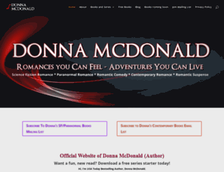 donnamcdonaldauthor.com screenshot