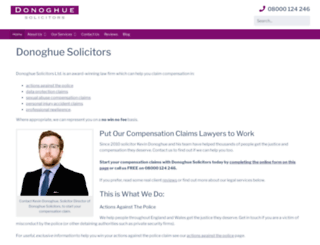 donoghue-solicitors.co.uk screenshot
