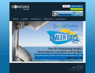 donovanmarineparts.com screenshot