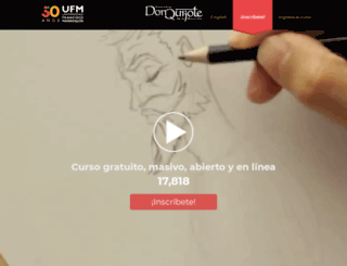 donquijote.ufm.edu screenshot