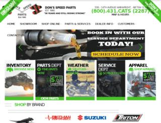 donsspeedparts.com screenshot