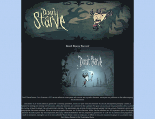 dontstarvetorrent.blogspot.com screenshot