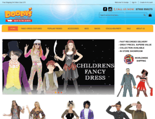 doodysfancydress.co.uk screenshot