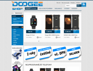 doogee-shop.cz screenshot